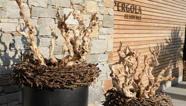Naturmaterialien Sudtirol Holzdekoration Tischdekoration Sudtirol