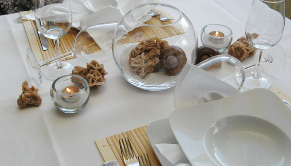 Tischdeko hochzeit naturmaterialien  Tischdekoration, Tischdeko für Hochzeit – Taufe - Kommunion